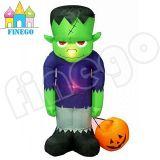 Opblaasbaar Groen Spook met Zwarte Basis voor de Decoratie van Halloween