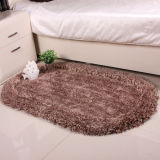 100% Polyester Plush Springiness + Silk Shaggy Plain Carpet