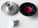 Кнопки металла изготовления: Кнопки меди Rhinestone сплава цинка хвостовика щелчковых крепежных деталей джинсыов