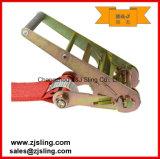 """cinta lisa 4 """" vermelho da catraca da carga de 4 """" ganchos de X 40 '"""