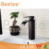 정연한 Black Orb Brass Single Handle Waterfall Basin Faucet 또는 Copper Water Tap Mixer