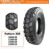 Pneu radial de camion de vidage mémoire rigide d'usine de pneu de la haute performance TBR (1200r20)