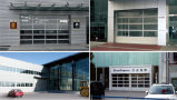 Porte en verre de garage de /Aluminium de porte de garage de bâti de portes en aluminium de garage