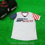 昇華メンズ野球のジャージのカスタムソフトボールのワイシャツの野球Unifroms
