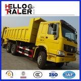 336HP de HOWO 8 x 4 bajan el carro de vaciado diesel del volquete de la consumición de combustible
