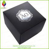 Bewegliche schwarze steife Schmucksache-verpackenkasten für Uhr