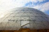 Cúpula de efecto invernadero esqueleto de la granja y zoológico