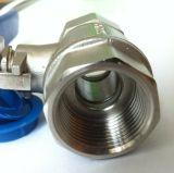 Valve à bille filetée en acier inoxydable 2PC (Q11F-25P)