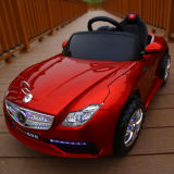 Carro elétrico dos miúdos de Mercedes-Benz, passeio no carro