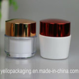 Frasco cosmético personalizado do plástico do frasco do frasco acrílico do frasco do creme de face