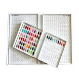 Nuancier de salon de livre d'écran couleur de polonais de gel d'art de clous (M28)