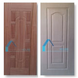 Piel moldeada base del panel de la puerta de la madera contrachapada del álamo del pegamento E2 con la chapa de Sapeli