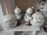 Polyresin Resin Christmas Sculpture Gift para el jardín Decoartion (JN141204)