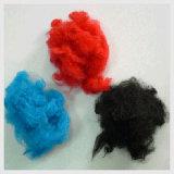 Réutiliser la fibre discontinue de polyesters noire