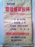 bolso tejido papel 25kg para la cera del PE