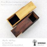 Hongdao personalizou o laço que embala a caixa de madeira com deslizamento da tampa