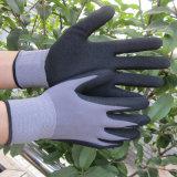 15 het Nitril van de maat Gloves Zandig Ondergedompeld op de Nylon Handschoen van het Werk