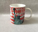 11oz tazza stampata decalcomania, tazza di ceramica del ricordo di New York
