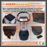 Crochet s'arrêtant opérant à la manivelle campant actionné solaire rechargeable de traitement d'oscillation de dynamo de sortie de la lanterne USB de 36 DEL