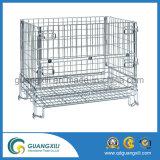 Pallet de caixa de malha de arame para cesta de metal industrial