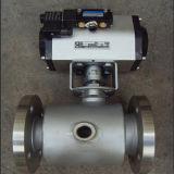 Válvula de esfera pneumática da isolação da válvula de esfera do aço inoxidável do revestimento do vapor