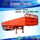 半中国の製造業者の壁の側面の開いたボードの貨物トレーラー