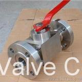 Válvula de bola de acero forjado de tres etapas