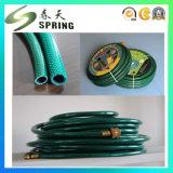 Vert de boyau de jardin de PVC et couleur de Balck avec Fitings en plastique
