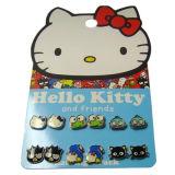 Handgemachte hallo-LieblingsMiezekatze der Kinder mit Frosch-und Katze-tierischem aktuellem Stift-Ohrring