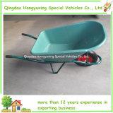 Kruiwagens Wb6435 van de Kleur van het Dienblad van Europa de Op zwaar werk berekende Plastic Groene (WB6404S)