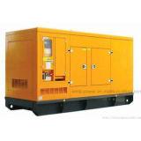 Unir les jeux diesel insonorisés de groupe électrogène du pouvoir 112kVA 90kw à l'engine de Perkins