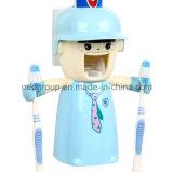 Распределитель зубной пасты держателя зубной щетки творческих любовников пластичный