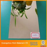 Silbernes Plastikacrylspiegel-Blatt