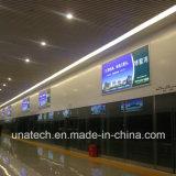 Señalización al aire libre/de interior de la flexión de la pared del montaje LED de la bandera del rectángulo ligero