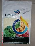 Saco tecido PP plástico da embalagem para o fertilizante