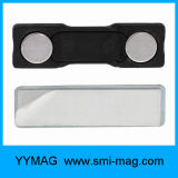 Tag conhecido plástico de suporte de emblema magnético