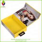 Drahtloses Bluetooth Earphone Paper Packaging Folding Box mit Plastic Handle