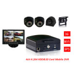 4channel Mobile Petrol télécommande Voitures Bus scolaire Mobile DVR-Hot Selling!