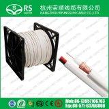 UL/ETL 500FT/1000FT Rg59 Siamese Zwarte van de Kabel van kabeltelevisie Combo Coaxiale