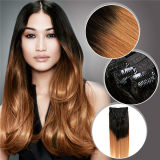 공장 Wholesale Price Hair Extension에 있는 Tangle 없음 Shedding Free Peruvian Hair Long Curly 150g 120g Triple Weft Clip
