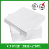 Papel do guardanapo do Livro Branco da dobra da dobra 1/4 do tamanho 2 de 25*25 Cm