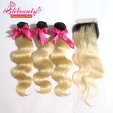 Capelli del Malaysian dei capelli umani 8A del Blonde 100% di Ombre