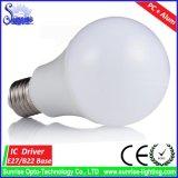 A60 E27 7W E27 LEDの白熱球根ライト80lm/W