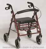 Rollator de alumínio de pouco peso com assento do PVC (BES-OL01A)