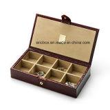 Пластичная коробка упаковки ювелирных изделий подарка Storge Cufflinks PU Jy-Cub05 кожаный