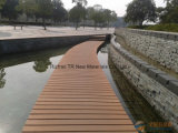 Decking de madeira do revestimento WPC de Laminted