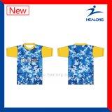 Healongの安い価格の完全な昇華大学Tシャツ