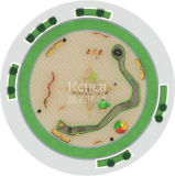 De Openlucht Gecombineerde Speelplaats van Kaiqi het Beklimmen van het Spel van de Kabel en Kleine Playsets (KQ60129A)