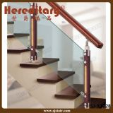 Barandilla de cristal del pasamano para el acero inoxidable de la escalera de interior (SJ-X1025)