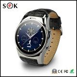 熱いS01 HDの円のタッチ画面の腕時計のBluetoothの人間の特徴をもつIosの電話のための独立した音楽プレーヤーが付いているスマートな腕時計の電話